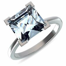E VVS1 Princess Cut 2 Ct Solitaire Diamond Engagement Ring 14Kt Solid White Gold
