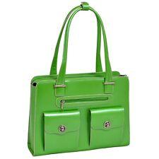 """McKlein, W Series,15"""" Leather Checkpoint-Friendly Ladies'Briefcase, Green(96621)"""