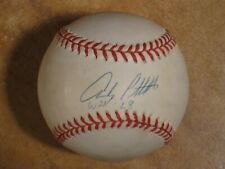 """ANDY PETTITTE """"W 21-L8"""" SIGNED AUTOGRAPHED RAWLINGS OFFICIAL MLB BALL PSA"""