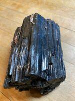 Black Tourmaline Crystal With Mica Quartz & Garnet Protection Specimen 111