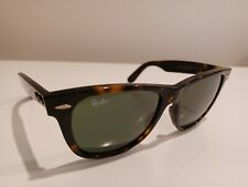 Vintage Ray-Ban Tortoise Brown Wayfarer Frogskin Sunglasses Italy Rb2140 54/18