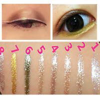 Liquid Glitter Eyeliner Lidschatten Glänzend Wasserdicht Neu Make-up V4T2