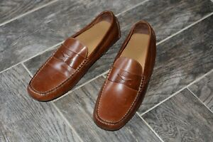 AWESOME Men's Brown Leather Penny Loafer Driver COLE HAAN Shoes Size 13 NEW