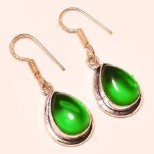 Green Onyx Pear Gemstone 925 Sterling Silver Earring Jewelry 1.5 Inch 4479