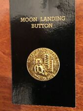 """New listing Vintage The First Moon Landing Button July 20 1969, 7/8"""""""