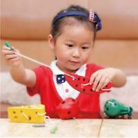 Mouse Wire Cheese Wooden Math Toys Kids Early Educational Toy Montessori Toys AL