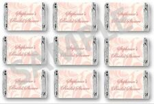 Bridal Shower Mini Candy Bar Wrappers - Blush Pink Favors - Set of 84