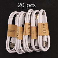 20x Wholesale Lot Of Micro USB Cable Charger Cord To Charge Samsung Galaxy White