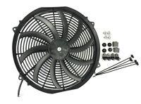 "16"" SLIM ELECTRIC RADIATOR FAN PUSHER PULLER 120W HIGH POWER MOTOR 3200 CFM New"