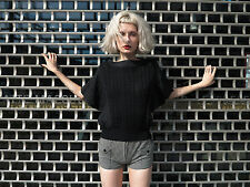 Damen Shirt T-Shirt Bluse Strick schwarz True VINTAGE woman shirt black 80s NOS