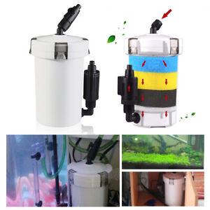 Mini External Canister Filter Table Top Nano Fish Tank Aquarium HW-602 106GPH