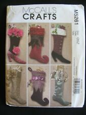 McCall's Crafts #5261 Christmas Stockings-Victorian Whimsical Pattern UNCUT