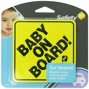 Safety 1st Baby On Board Sign Magnet - Yellow Small Help Keep Children Safe New