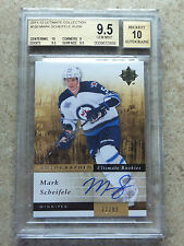 11-12 UD Ultimate RC Rookies Autographed MARK SCHEIFELE /99 Graded BGS 9.5 GEM