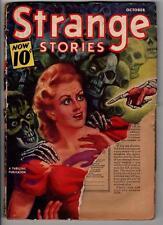Strange Stories Oct 1940 Classic Good Girl vs Skeletons