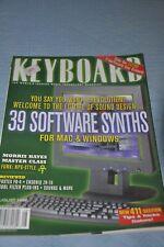 Keyboard Magazine (August 1998) Gary Numan, Soft Synths, Ensoniq Zr-76, Fostex