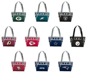 NFL Quatrefoil 16 Can Cooler Tote Lunch Picnic Bag