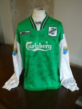 More details for hibernian original 1996 mitre long sleeved home matchworn player shirt rare hibs