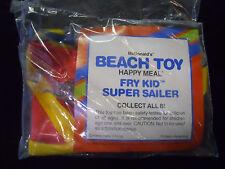 VINTAGE! 1990 McDonald's Happy Meal Beach Toys Fry Kid Super Sailer
