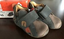 NWT Baby Boy Garvalin Mokka Caldera Leather Brown Worm Shoes  Euro 20 - USA 4.5