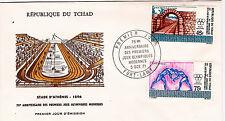 Rep.du TCHAD Enveloppe 2 timbres FDC 1971 Anciens stades d'Athenes  C126