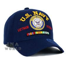U.S. NAVY hat  VIETNAM VETERAN Military Official Licensed Baseball cap-Navy Blue