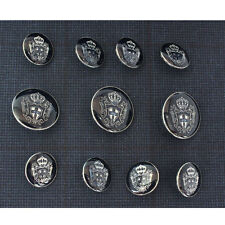 Silver Blue Metal Blazer Buttons Set For Blazer  Suit  Sport Coat