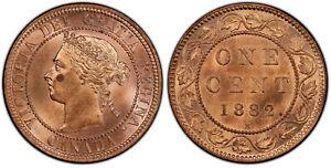 CANADA. Victoria. 1882-H AE Cent. PCGS Genuine - UNC Detail KM 7.