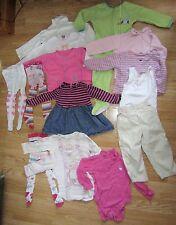 Faisceau de filles vêtements 18-24 mois 15 objets Next Robe, tops, collants, pyjamas