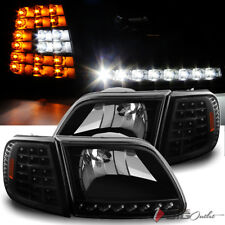 For 97-03 Ford F150 97-02 Expedition LED Headlights+LED Corner Head Lights Pair