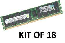 18x HP 16GB 288GB 672631-B21 672612-081 647653-081 ECC REG RAM PC3-12800R f Gen8
