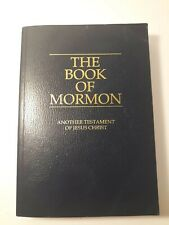 The Book of Mormon 1981 Soft Cover Blue - Another Testament of Jesus Christ