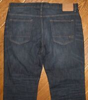 AEROPOSTALE MEN'S JEANS RELAXED 38 x 30 (Tag says 36x30) DARK WASH ZIP FLY