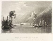 KOBLENZ - SCHLOSS STOLZENFELS - Wright - Samuel Lacey - Stahlstich 1841