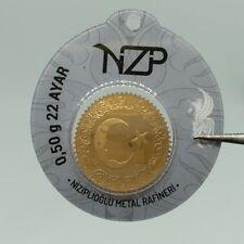 0,50 1/2 gram gold bar 22 karat NZP Gold Refinery ,916 Fine Solid gold Coin