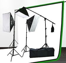 Fancierstudio UL9004SB-69BWG 2000 Watt Photo Studio Lighting Kit With 6-9 Fee...