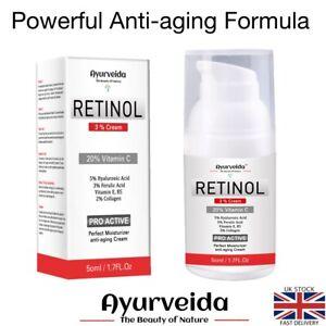 Retinol Face Cream-Serum with 20% Vitamin C, 5% Hyaluronic Acid & 2% Collagen