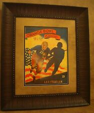 "VINTAGE TEXAS A&M COLLEGE FOOTBALL POSTER  FRAMED ""A&M VS L.S.U."" ORANGE BOWL"