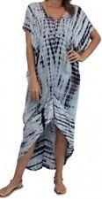 Tie Dye Asymmetric Plus Size Dresses for Women