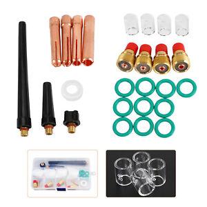 Tig Gas Lens Collet Body Pyrex Cup Kit Wp 9 20 25 Tig Welding Torch 26Pcs B2