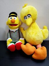 Sesame Street Hasbro Bert and Big Bird Plush.