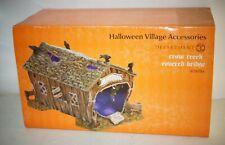 Department 56 Halloween Village Accessories Crow Creek Covered Bridge Mib
