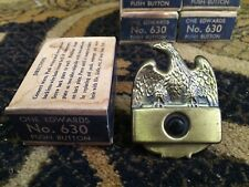 Vintage Edwards Push-Button DOORBELL Ringer New Old Stock In Box No.630