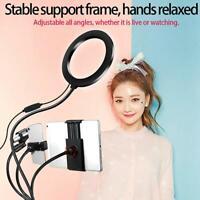 """8"""" LED Ring Fill Light Selfie Lamp kit Phone Holder for Makeup Video Live Studio"""