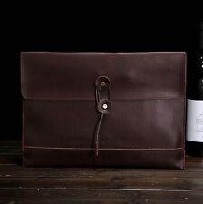 New Men's Leather Envelope Bag Messenger Bag Slim Case Clutch Handbag  brown!