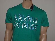 Armani Exchange Auténtico Linebreak logo cuello en 'V' CAMISETA LUZ VERDE