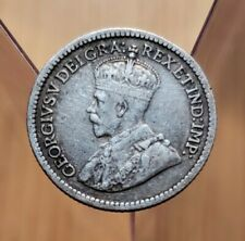 1916 Canada 5 Cents King George V Silver Coin