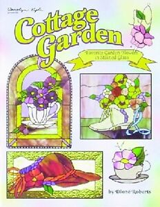 Stained Glass Pattern Book - COTTAGE GARDEN (Free Shipping)