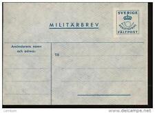 Sweden Military envelope MINT never used
