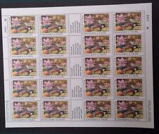 Scarce 1992- Full Sheet  20 x $10.00 Wetlands Conservation Stamps Mint. W.A. O/P
